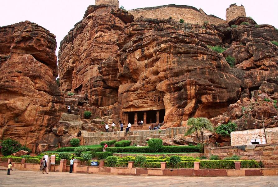 Caves in India - Badami Caves, Karnataka