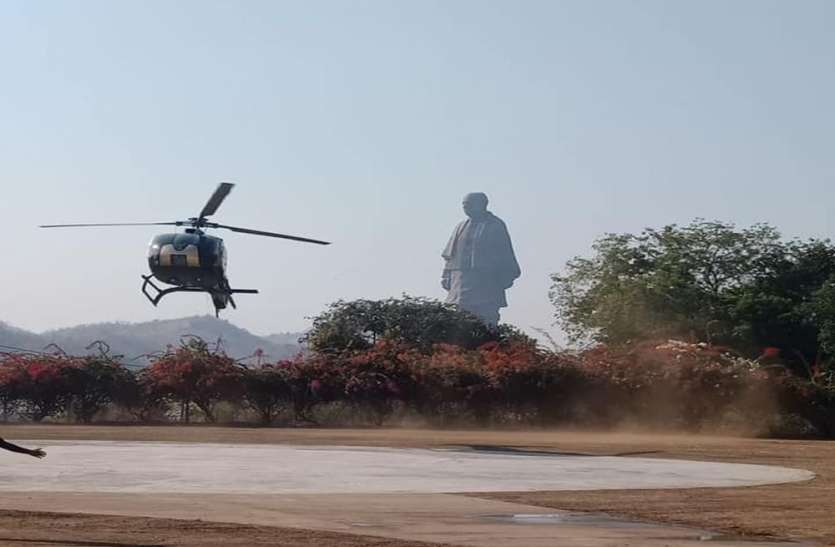 helicopter ride in Statue of Unity